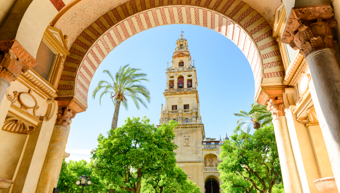 The Mosque-Cathedral of Cordoba, Mezquita. It was built by the Visigoths in 711 and it was converted to a Roman Catholic church, in the 16th century. It is one of the oldest structures still standing from the time Muslims  in the late 8th century. Its a World Heritage Site since 1984.